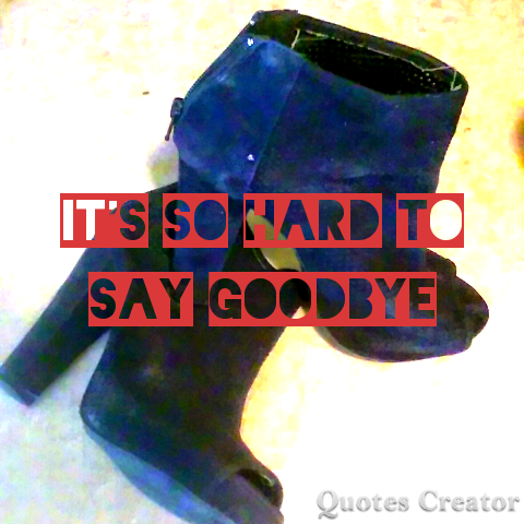 Goodbye High Heels